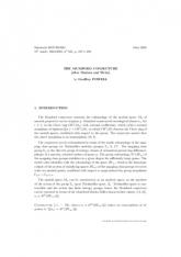 Exposé Bourbaki 945 : La conjecture de Mumford