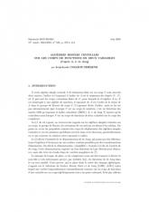 Exposé Bourbaki 949 :  Algèbres simples centrales sur les corps de fonctions de deux variables