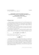 Exposé Bourbaki 951 : Problèmes de recouvrement et points exceptionnels pour la marche aléatoire et le mouvement brownien