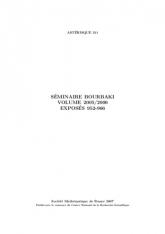 Séminaire Bourbaki, Volume 2005/2006, Exposés 952-966