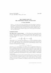 Exposé Bourbaki 960 : La vérification de la conjecture de Nirenberg-Treves