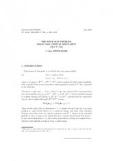 Exposé Bourbaki 965 : Le problème de l'application d'onde. Régularité critique des petites données initiales