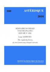 Exposé Bourbaki 1093: Théorie de la régularité des courants intégraux minimiseurs d'aire