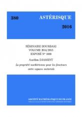 Exposé Bourbaki 1090: La propriété noethérienne pour les foncteurs entre espaces vectoriels