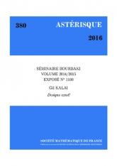 Exposé Bourbaki 1100: Les designs existent!