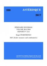Exposé Bourbaki 1114: Propriété de non-indépendance (NIP), mesures de Keisler et combinatoire