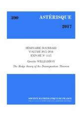 Exposé Bourbaki 1115: Théorie de Hodge du théorème de décomposition