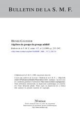 Algèbres de groupe du groupe additif