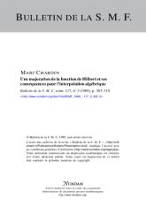 Une majoration de la fonction de Hilbert et ses conséquences pour l'interpolation algébrique