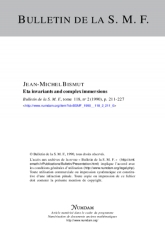 Eta invariants and complex immersions