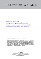 Prolongement d'applications holomorphes