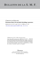 Resonance theory for periodic Schrödinger operators