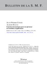 Fonctions harmoniques pour un opérateur de transition et applications