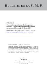 Construction géométrique des idempotents eulériens. filtration des groupes de polytopes et des groupes d'homologie de Hochschild