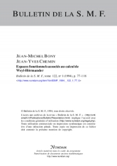 Espaces fonctionnels associés au calcul de Weyl-Hörmander