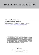 Minimal surfaces of finite type