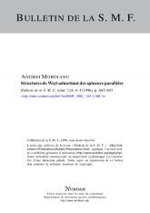 Structures de Weyl admettant des spineurs parallèles