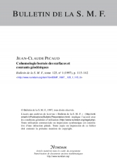 Cohomologie bornée des surfaces et courants géodésiques