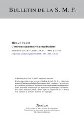 Conditions quantitatives de rectifiabilité
