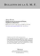Modèles locaux de structures de Poisson singulières en dimension $3$