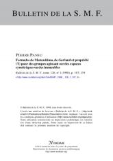 Formules de Matsushima, de Garland et propriété (T) pour des groupes agissant sur des espaces symétriques ou des immeubles