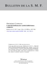 Connexité abélienne des variétés kählériennes compactes