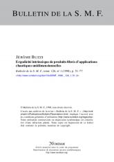 Ergodicité intrinsèque de produits fibrés d'applications chaotiques unidimensionnelles