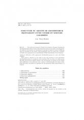 Structure du groupe de Grothendieck équivariant d'une courbe et modules galoisiens