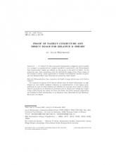 Démonstration d'une conjecture de Nadel et image directe pour la $K$-théorie relative