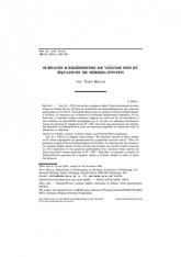 Surfaces kählériennes de volume fini et équations de Seiberg-Witten