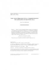 Une caractérisation de la correspondance de Langlands locale pour ${\rm GL}(n)$
