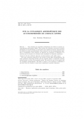 Sur la dynamique arithmétique des automorphismes de l'espace affine