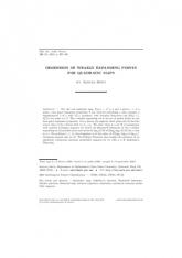 Dimension des points faiblement dilatants pour l'application quadratique