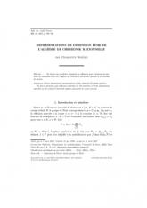Représentations de dimension finie de l'algèbre de Cherednik rationnelle