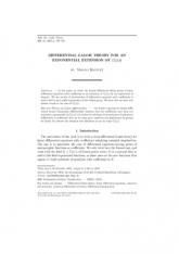 Théorie de Galois différentielle
