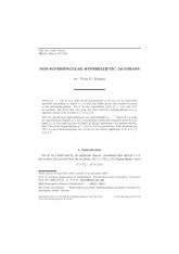 Jacobiennes hyperelliptiques non supersingulières