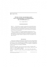 Étude d'une transformation non uniformément hyperbolique de l'intervalle $[0,1[$