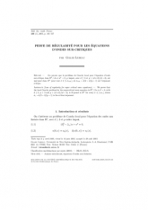Perte de régularité pour les équations d'ondes sur-critiques