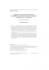 Théorie de Voronoï géométrique. Propriétés de finitude pour lesfamilles deréseaux et analogues