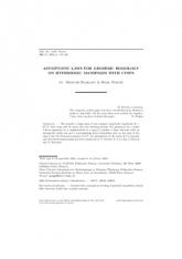 Lois stables et flot géodésique sur des variétés non compactes à courbure négative