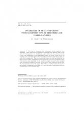 Courbes réductibles, cuspidales et invariants des variétés symplectiques réelles de dimension quatre