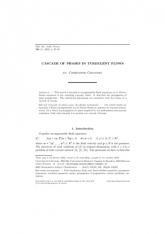 Cascade de phases pour des fluides turbulents