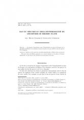 Bas du spectre et delta-hyperbolicité en géométrie de Hilbert plane