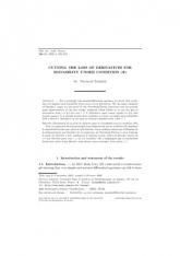 Diminution de la perte de dérivées pour la résolubilité sous la condition $(\Psi )$