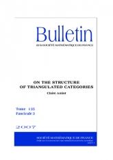 Sur la structure des catégories triangulées