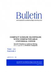 Variétés kähleriennes compactes à revêtement universel compactifiable