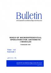 Anneaux d'opérateurs microdifférentiels pour les $\mathcal {D}$-modules arithmétiques. Construction et application aux variétés caractéristiques de courbes