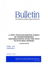 Une nouvelle famille à deux paramètres de déformations isomonodromiques sur la sphère à cinq trous
