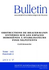 Obstructions de Brauer-Manin entières sur les espaces homogènes à stabilisateurs finis nilpotents