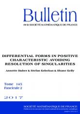 Formes différentielles en caractéristique positive en évitant la résolution de singularités